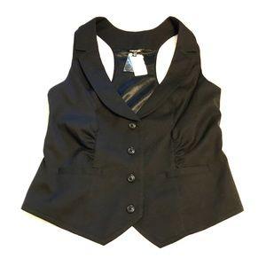 NWT Maurices Vest Dressy Black Large Career Work